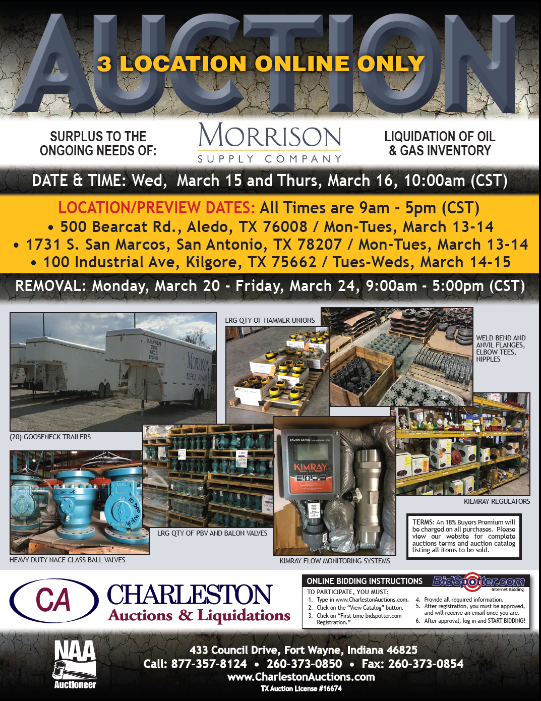 Charleston Auctions - Past Projects / Case Studies